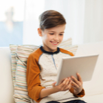 kid on laptop